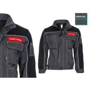 Feliratozás kabátra - kis logó bal zseb fölött (120x30, 80x80)