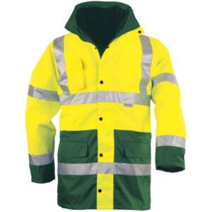 Coverguard 4/1 Fluo PE kabát (sárga/zöld)