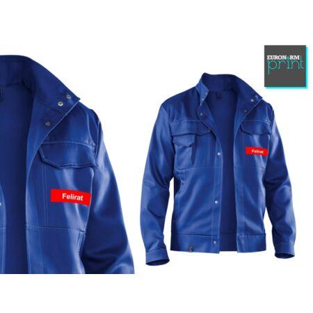 Feliratozás kabátra - kis logó bal hajtókán (120x30)