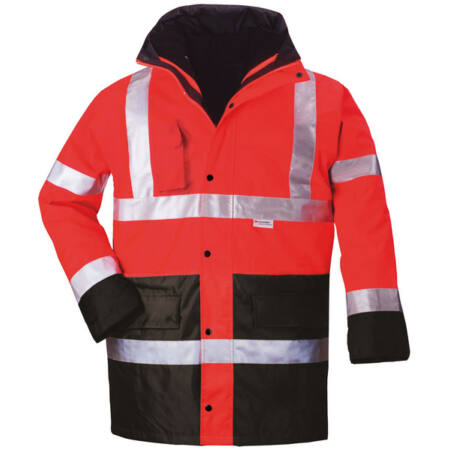 Coverguard 4/1 Fluo PE kabát (piros/kék)
