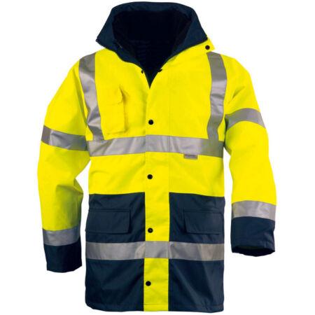 Coverguard 4/1 Fluo PE kabát (sárga/sötétkék)