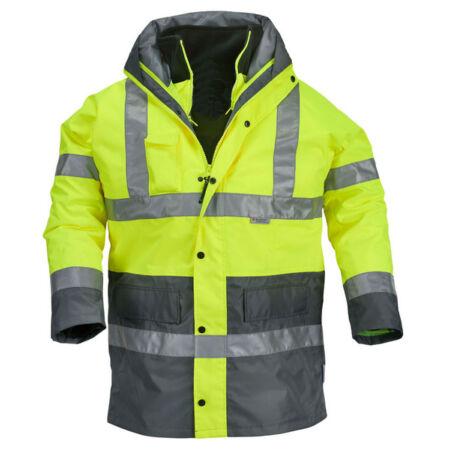 Coverguard 4/1 Fluo PE kabát (sárga/szürke)