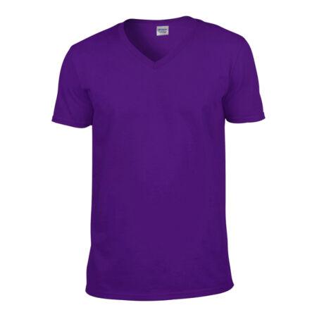 Gildan Softstyle V-nyakú póló (lila)