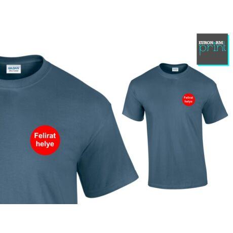 Feliratozás pólóra - kis logó szív fölött (120x30, 80x80)