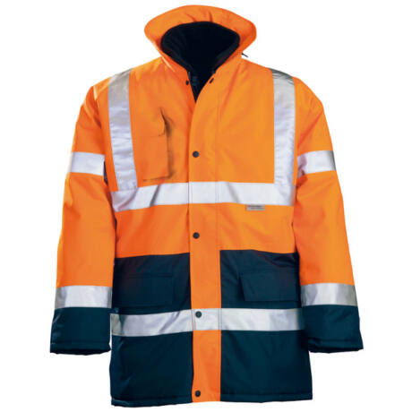 Coverguard 4/1 Fluo PE kabát (narancs/sötétkék)