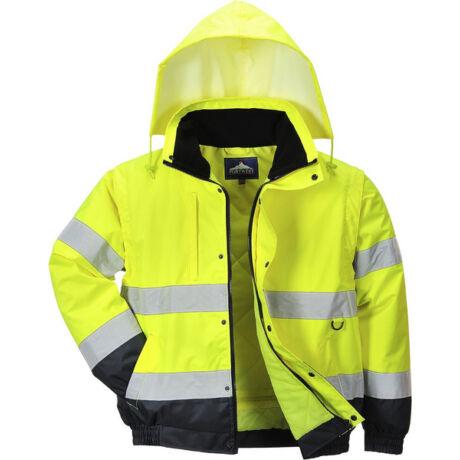 8f1e6d7d4f Portwest Hi-Vis 2in1 kabát (2XL, sárga), Jól láthatósági munkakabát ...
