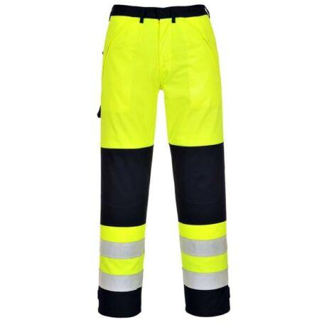Portwest FR62 munkásnadrág (sárga/navy)