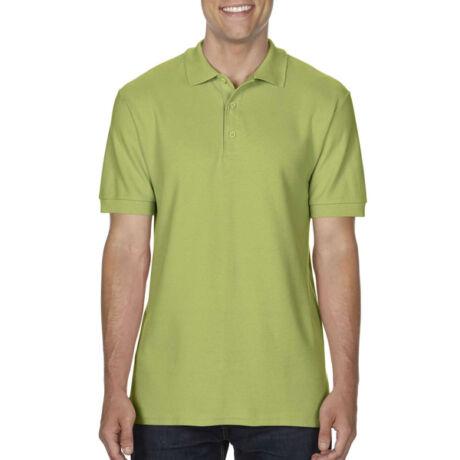 Gildan Premium Cotton galléros póló (kiwi)