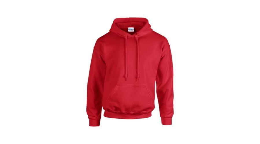 Gildan Heavy Blend kapucnis pulóver (piros) Nagyításhoz kattintson a képre! 4d2bb46f31