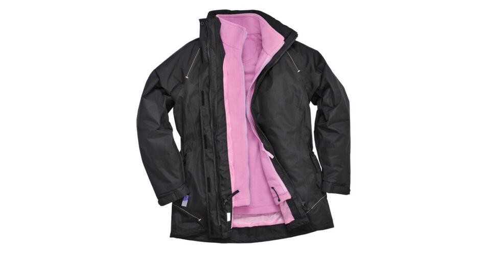 S571 Elgin 3 az 1 ben Női kabát fekete Munkaruha