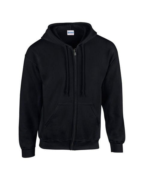 679ca6ad57 Gildan FullZipp cipzáras kapucnis pulóver (5XL, fekete), Pulóver, Gildan
